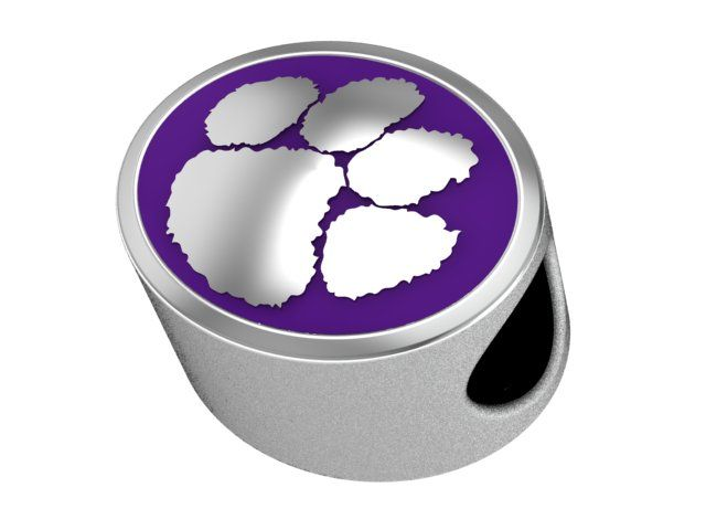 Sterling Silver Enamel Clemson Tigers Bead Charm, LOVE THIS!