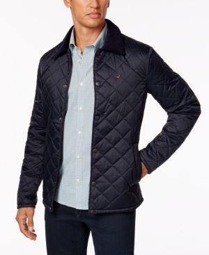 Barbour Men's Saltcoats Quilted Jacket  - Blue XXL