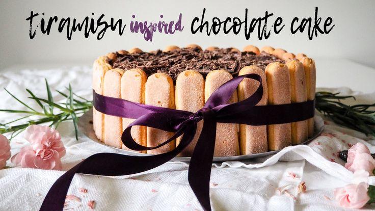Tiramisu inspired Chocolate ckae from my blog A Small Adventure