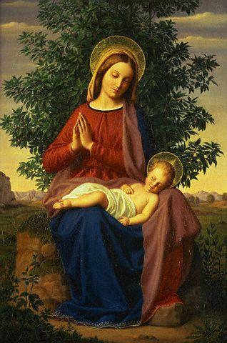 The Madonna and Child by Julius Schnorr von Carolsfeld - nel