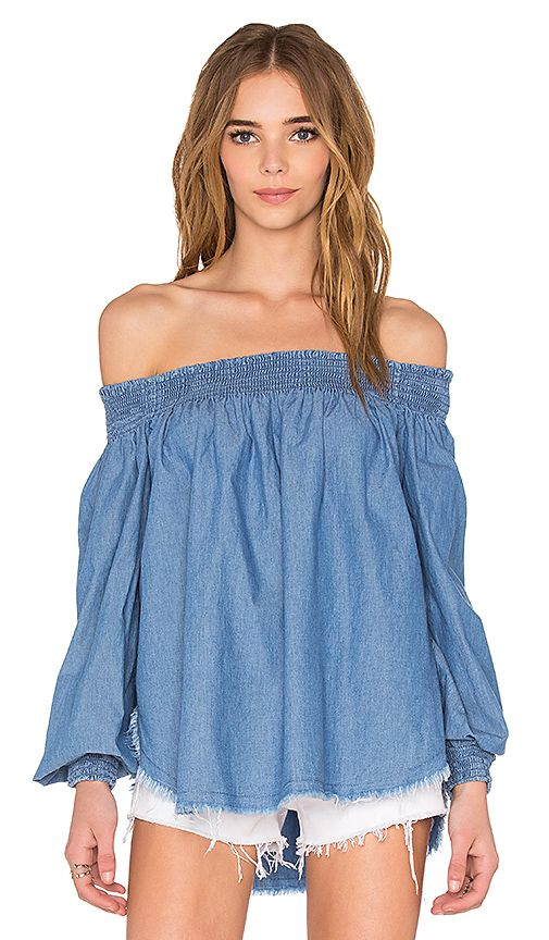 Shop for One Teaspoon Texas Sugar Top in Chambray at REVOLVE. Free 2-3 day shipping and returns, 30 day price match guarantee.