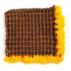 Rudraksha Mat, Rudraxa Yoga Meditation Mats, Vedicvaani.com. Online Seller of Yoga rudraksham mats shopping center. It's made of antarctic five mukhi Rudraksham. Hand-woven mat made of 5 mukhi rudraksha beads of Indonesian/Java origin. This holy mat is ideal for healing and as a spiritual tool in the altar or in living area for soothing ambience. http://vedicvaani.com/Rudraksha-Mat . Lying on a rudraksha mat,helps to ease the painful body