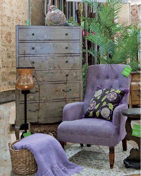 Pretty purple decor