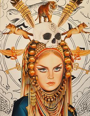 glory: Skull, Pop Art, Art Inspiration, Illustration, Female Warriors, Painting, Oracle Fox, Printable Art