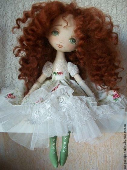Кукла Николь - рыжий,кукла интерьерная,кукла текстильная,кукла в подарок ♡