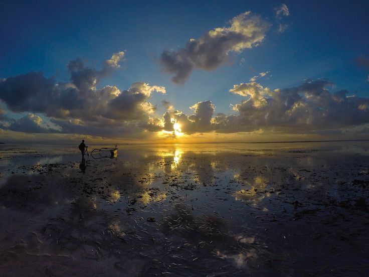 Sanur, Bali. Indonesia. I witnessed some of the most incredible sunrises there.