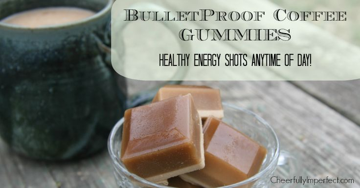 bullet proof coffee gummies... nutrient dense and gut healing, not to mention yummy :)