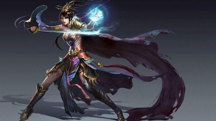 Beautiful Fantasy Magician Free Desktop Wallpaper 2560×1600