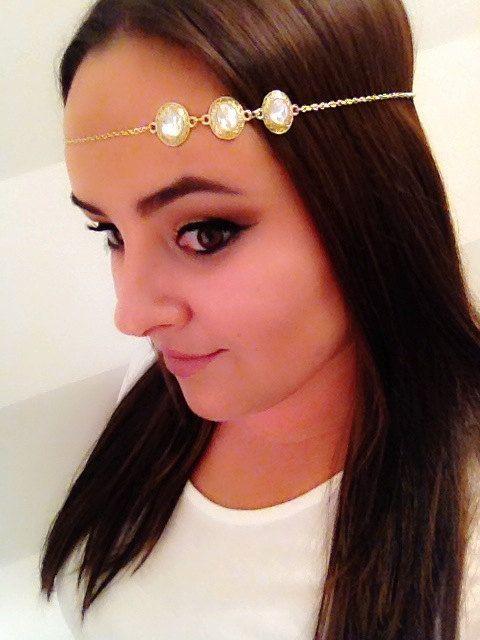 The Vicki Halo ~ Gold Crystal Hair Jewelry Bridal …
