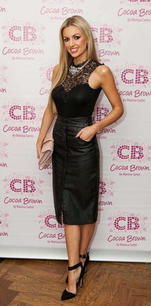 Rosanna Davison in a little black dress