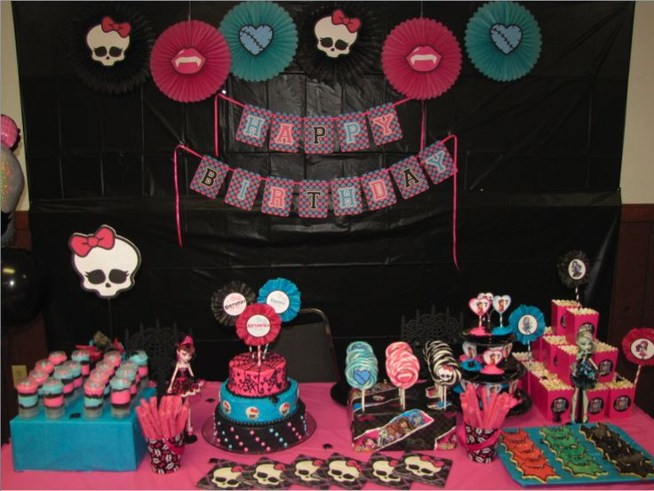 birthday party themes monster high birthday party