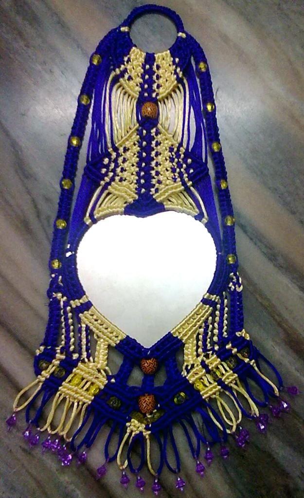 Macrame decorative mirror | MACRAMÉ | Pinterest