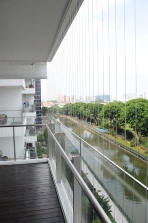 Invisible grilles singapore for Balcony ideas singapore