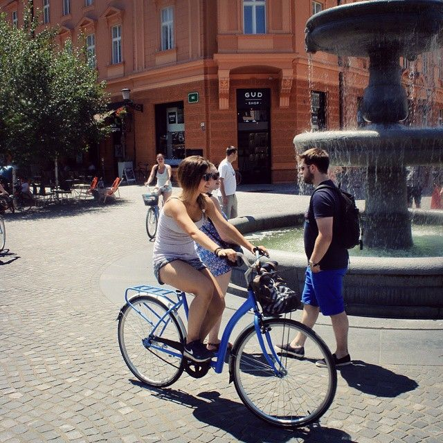Ljubljan memories  Life is like riding a bicycle to keep your balance you must keep moving.