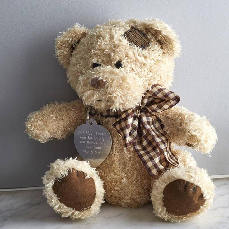 Personalised Teddy Bear in a Gift Tin. Pressure Box