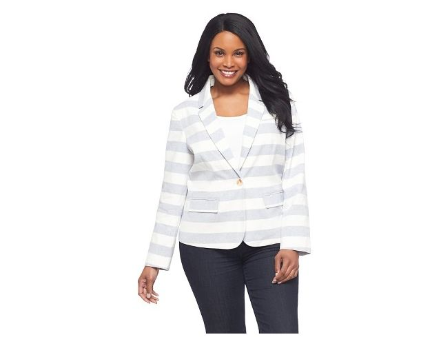 6 Plus Size Blazers for Work: Striped Blazer