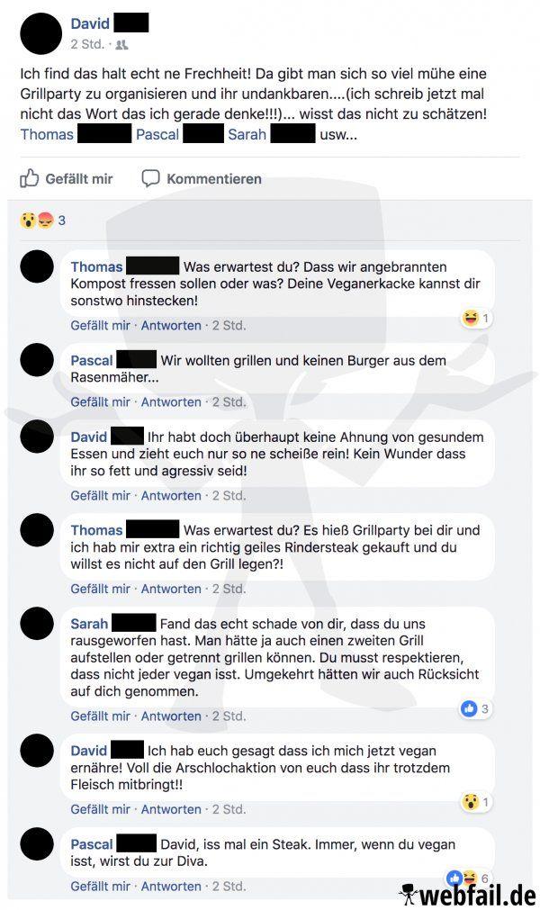 Eine ausgefallene Grillparty - Facebook Fail des Tages 17.04.2018   Webfail - Fail Bilder und Fail Videos