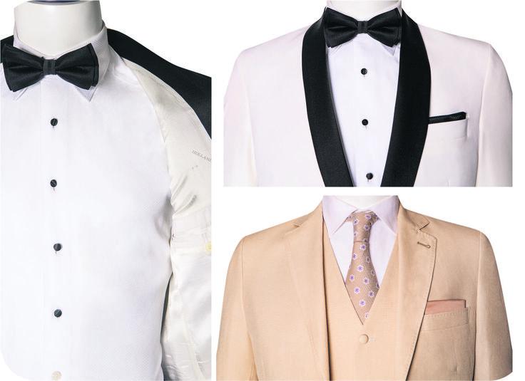 La elección del color y las combinaciones del vestido del nuevo esposo dependerán exclusivamente de su gusto y personalidad.
