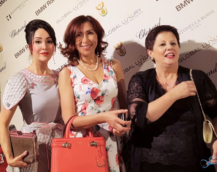 CREATIVE PEOPLE GET TOGETHER IN ITALY. With the fashion designers Porscia Yeganeh from Iran ( left side) and Antonella Rosso from Italy ( right side) -