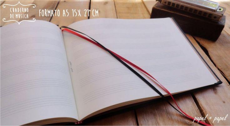 Cuaderno Pentagramado   Musica De Lujo Handmade Papel+papel - $ 150,00 en MercadoLibre