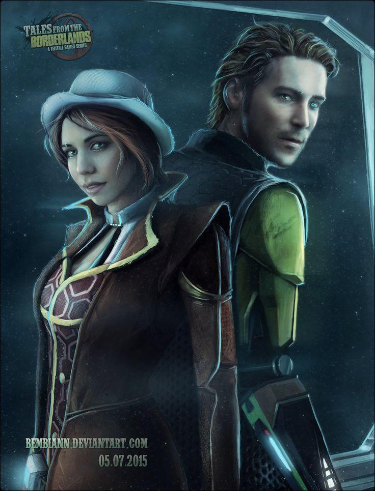 Laura Bailey as Fiona and Troy Baker as Rhys(TFTB) by Bembiann.deviantart.com on @DeviantArt
