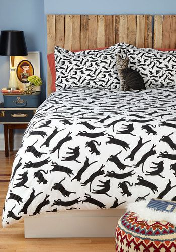 Yours, Mine, and Noir's Duvet Cover in Full/Queen, #ModCloth