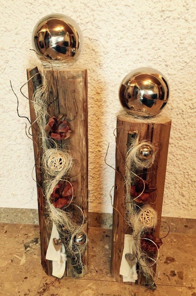 Edel dekorierter Holzbalken
