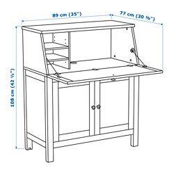 ХЕМНЭС Бюро, белая морилка - 89x107 см - IKEA