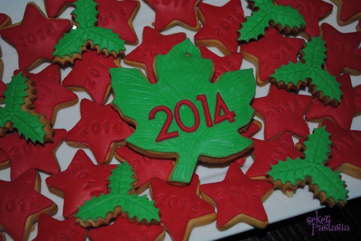 Yeni yıl mini kurabiyeler