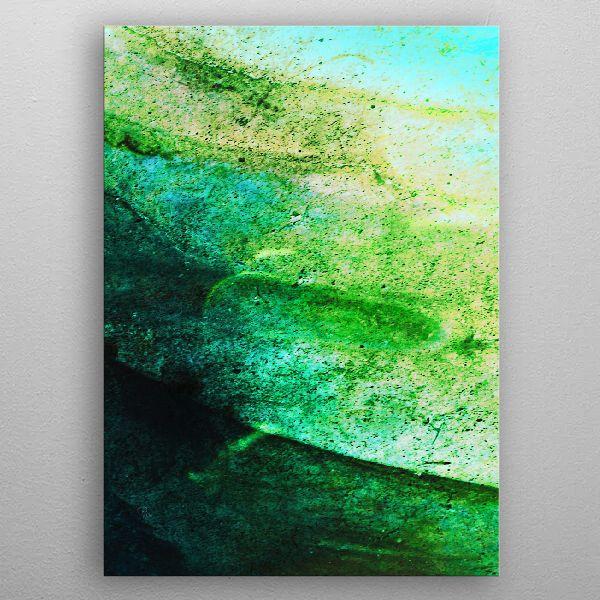 Stormy Mint And Green V3 Poster Print By Pia Schneider Displate Wandbilder