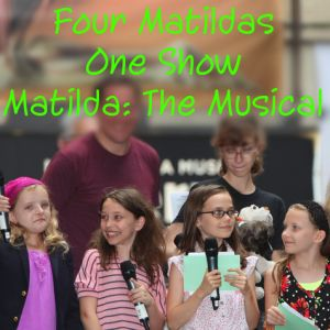 The four girls playing Matilda in the New York production of Matilda the Musical, Sophia Gennusa, Oona Laurence, Bailey Ryon, Milly Shapiro, performed.