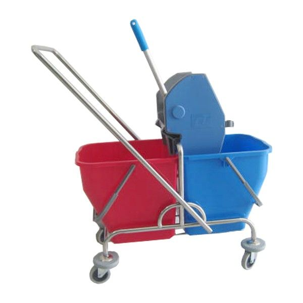 Double Bucket Stainless Italy.  - Type:302KL-2525ITST - Capasitas :48L - Wringer:Down Press  - Color:Stainless steel Trolley, Blue Red Bucket, Blue Grey Wringer - product size :57x32x86cm - Handle Size:85L x 36W cm - Harga per unit.  http://alatcleaning123.com/ember/1687-double-bucket-stainless-italy.html  #ember #bucket #alatcleaning