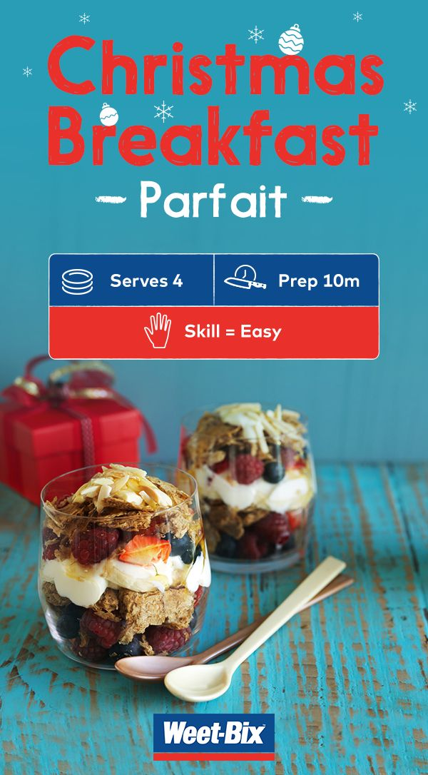 Breakfast parfait is a fresh and delicious way to kick off the morning. High in fibre and iron, it's a nutritious start to any celebration day. Click to get the full recipe.