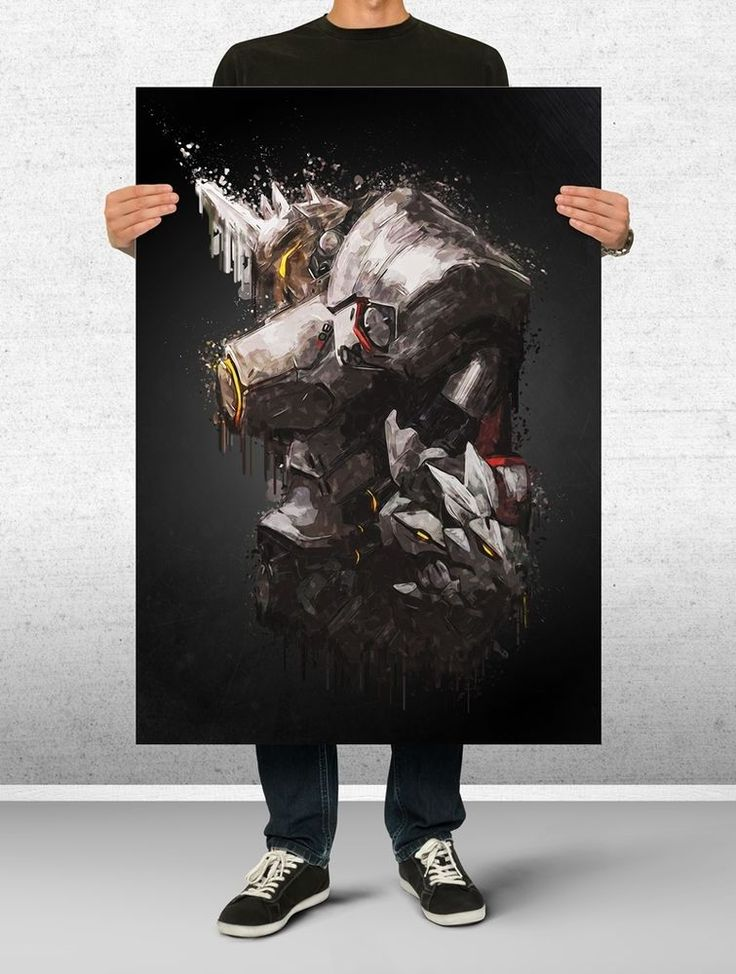 Reinhardt Overwatch Poster Art Print Watercolor Wall Decor Game Print Poster
