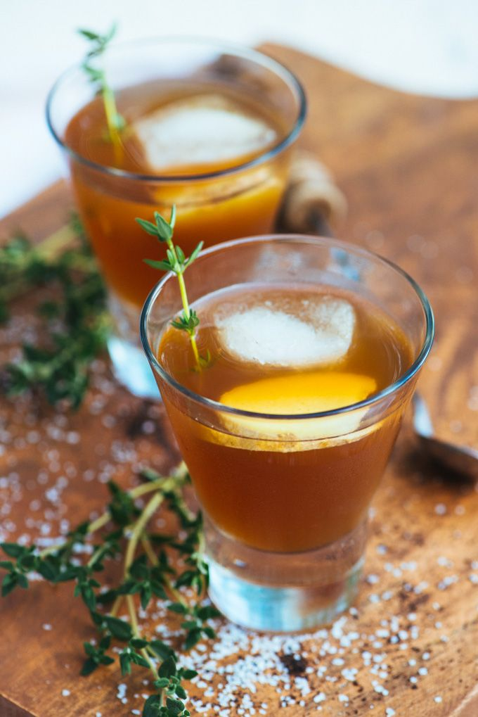 Earl grey, ginger, lemon, and bourbon make for one delicious fall cocktail.