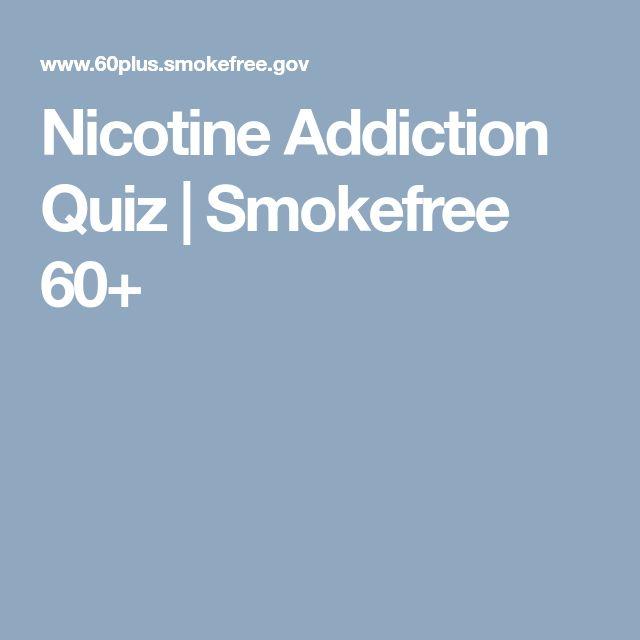 Nicotine Addiction Quiz | Smokefree 60+