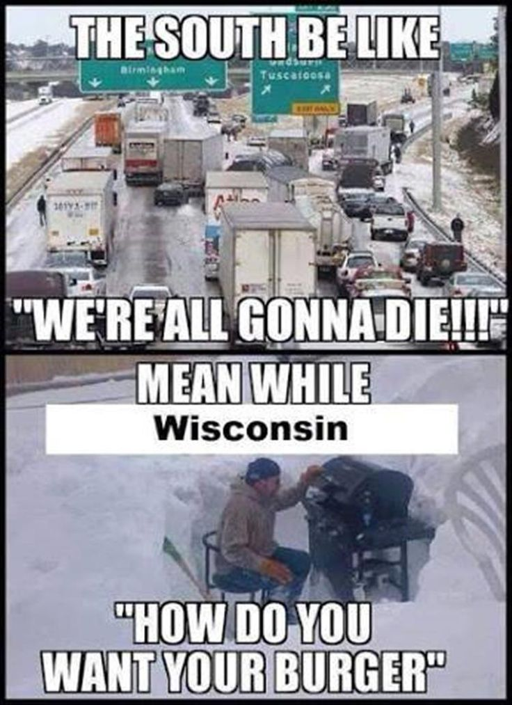 IT'S FUNNY CUZ IT'S TRUE I LIVE IN WISCONSIN AND MY DAD SMOKES MEAT IN THE MIDDLE OF JANUARY IT'S AWESOME