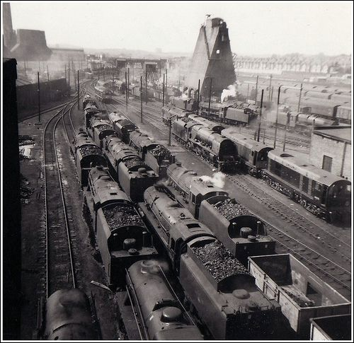 Willesden Shed 1962. by Stuart Axe, via Flickr