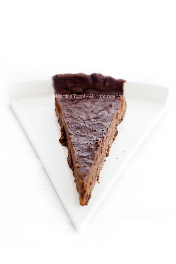 Tarte al cioccolato con frolla al cacao