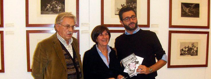 Inaugurazione della mostra con Gabriele Mazzotta, il Sindaco di Inveruno e Antonio Mazzotta.