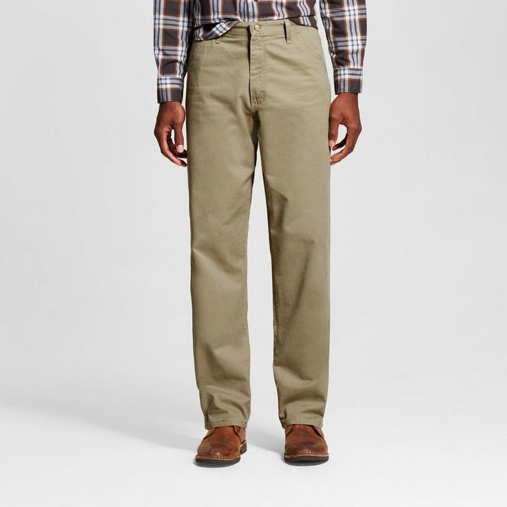 Wrangler Men's Relaxed Fit Carpenter Jeans - British Khaki 38x30