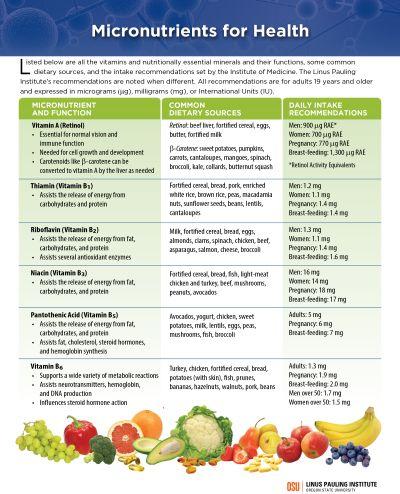 Best Foods Micronutrients List