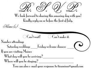 Wedding Rsvp Design Custom Typography Invitation Wording Inspiration