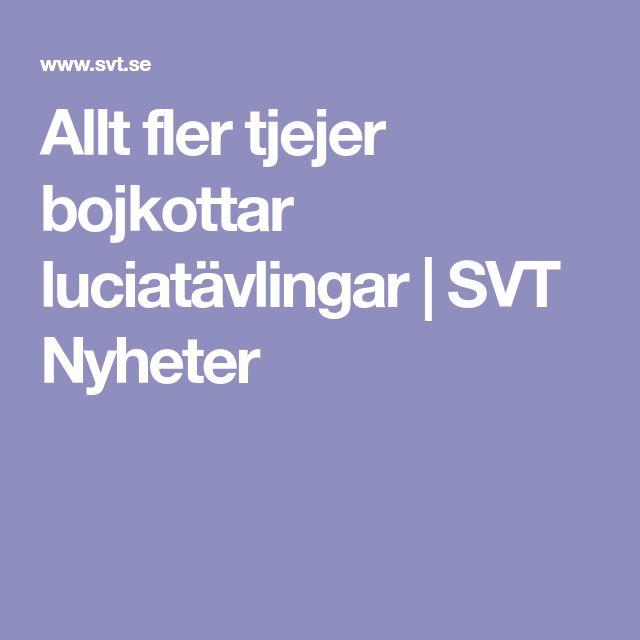 Allt fler tjejer bojkottar luciatävlingar | SVT Nyheter