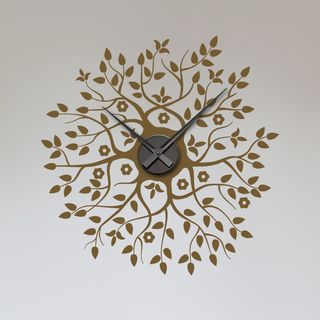 Sticker Horloge en Fleur