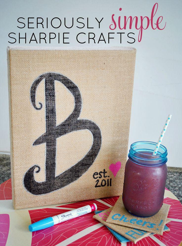 Easy burlap home decor paint markers sharpie paint for Paint pens for wood crafts