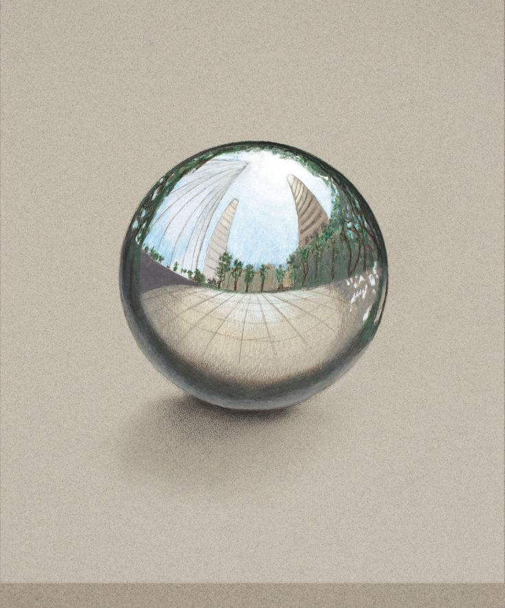 How To Draw A Chrome Sphere  •  Free tutorial with pictures on how to draw a 3D drawing in 7 steps
