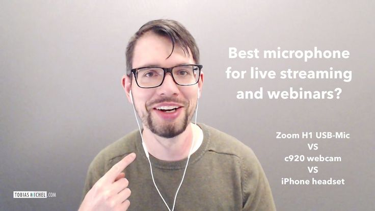 Best microphone for live streaming & webinars?
