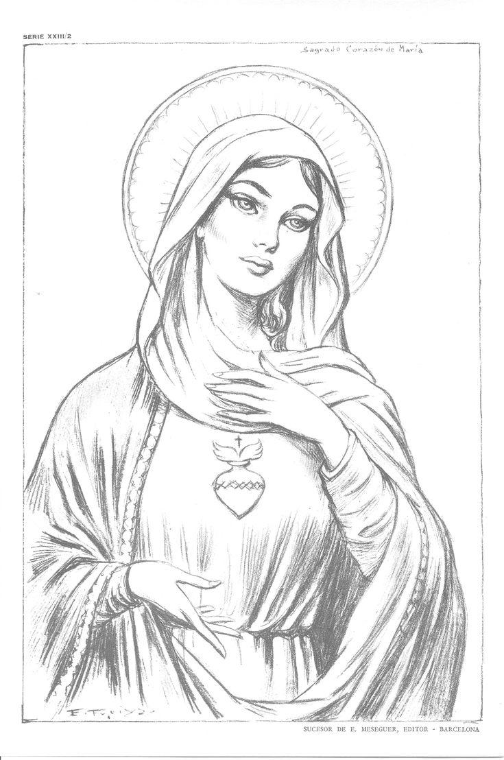 14 melhores imagens de virgem maria tattoo no pinterest virgem maria desenhos de tatuagem e tatoo - Laminas de dibujo artistico ...