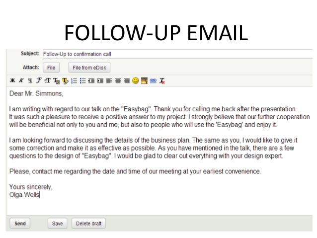 Example Follow Up Email Email Template Business Write To Me Following